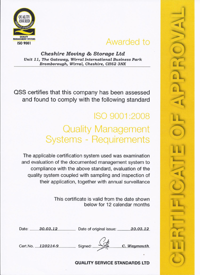 ISO 9001:2008 Quality Management Systems Requirements